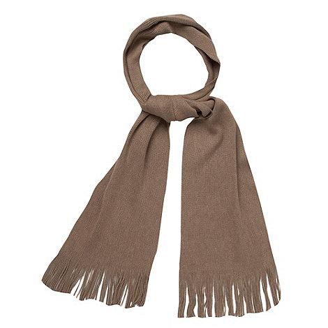 J by Jasper Conran - Designer camel luxury merino wool knitted scarf