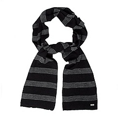 J by Jasper Conran - Designer black horizontal striped scarf