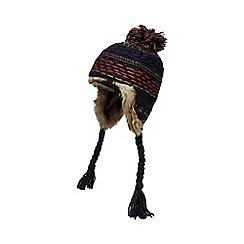 Mantaray - Grey reverse knit trapper hat
