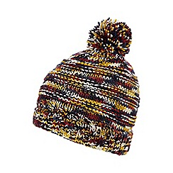 Red Herring - Yellow space dye bobble hat