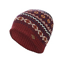 Mantaray - Red Fair Isle beanie hat
