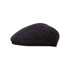 The Collection - Black corduroy flat cap