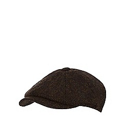 RJR.John Rocha - Dark green Harris Tweed baker boy cap