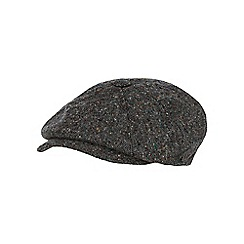 RJR.John Rocha - Grey pure wool donegal baker boy cap