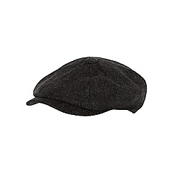 RJR.John Rocha - Grey herringbone patterned flat cap with wool