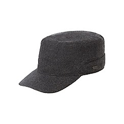 J by Jasper Conran - Grey melton borg lined hat