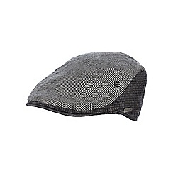 J by Jasper Conran - Grey panelled flat cap