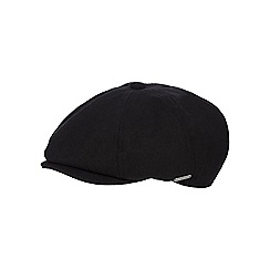 J by Jasper Conran - Black wool blend baker boy hat