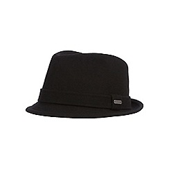 J by Jasper Conran - Black wool blend trilby hat