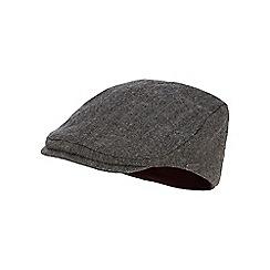 J by Jasper Conran - Grey herringbone patterned flat cap with wool