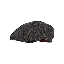J by Jasper Conran - Grey textured pattern flat cap