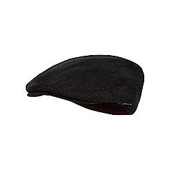 J by Jasper Conran - Dark grey concealed earflap flat cap