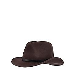 Osborne - Brown belted wool fedora hat