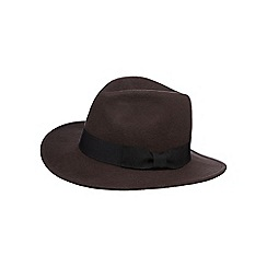 Osborne - Brown bow band wool fedora hat