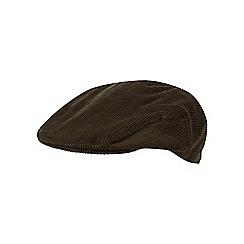 Osborne - Dark khaki cord flat cap