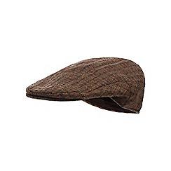 Osborne - Brown dogtooth flat cap hat