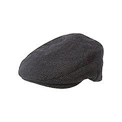 Osborne - Grey puppytooth flat cap