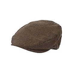 Osborne - Brown puppytooth flat cap