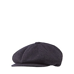 Hammond & Co. by Patrick Grant - Designer grey wool blend baker boy cap