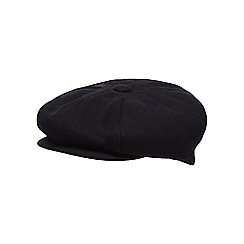Hammond & Co. by Patrick Grant - Black wool blend baker boy cap
