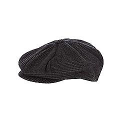 Hammond & Co. by Patrick Grant - Dark grey wool blend baker boy cap
