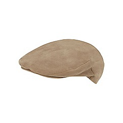 Hammond & Co. by Patrick Grant - Light khaki moleskin flat cap