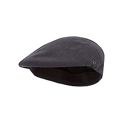 The Collection - Grey moulded flat cap