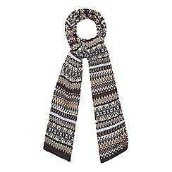 Mantaray - Orange Fair Isle print scarf