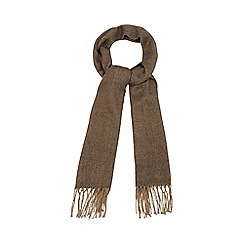 The Collection - Brown chevron woven scarf