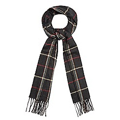 The Collection - Grey woven checked print scarf