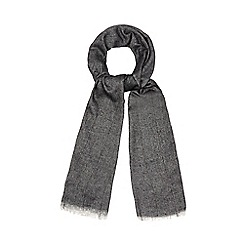 The Collection - Grey fine purple pinstripe scarf