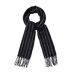 The Collection - Navy blue vertical striped woven scarf