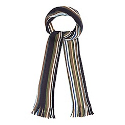 The Collection - Blue irregular stripe fringe scarf