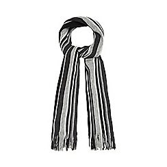 The Collection - Grey striped scarf
