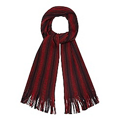 The Collection - Red fine striped scarf