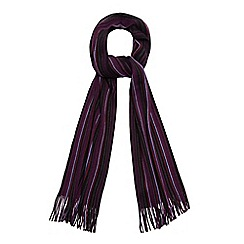 The Collection - Purple fine striped scarf