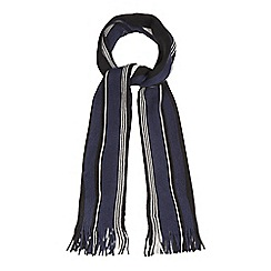 The Collection - Grey fine stripe colour block scarf