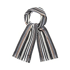 RJR.John Rocha - Grey striped brushed wool scarf