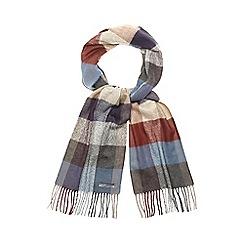 RJR.John Rocha - Grey woven check scarf
