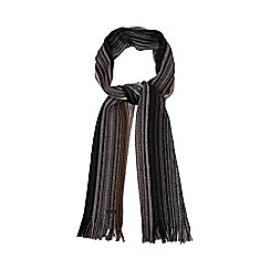 RJR.John Rocha - Grey tonal striped scarf