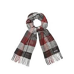 RJR.John Rocha - Red check print scarf
