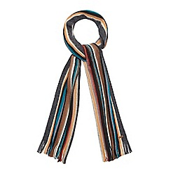 RJR.John Rocha - Multi-coloured wool striped scarf