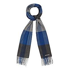 RJR.John Rocha - Blue checked print scarf
