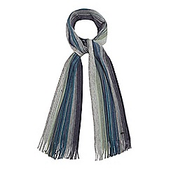 RJR.John Rocha - Green wool striped scarf
