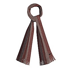 RJR.John Rocha - Red wool block stripe scarf