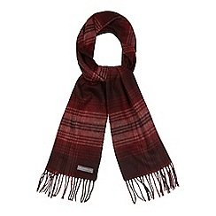 RJR.John Rocha - Red checked print scarf