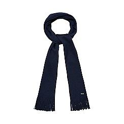J by Jasper Conran - Dark blue pure Merino wool scarf