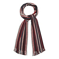 J by Jasper Conran - Red wool stripe scarf