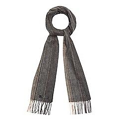 J by Jasper Conran - Grey stripe woven scarf