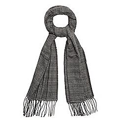 J by Jasper Conran - Grey reversible fringe scarf